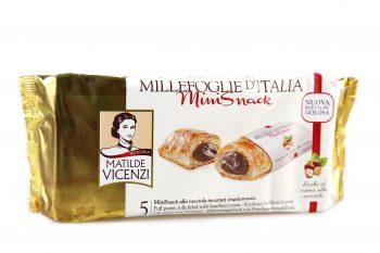Sušienky s krémom z lieskových orieškov Millefoglie