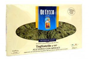 Cestoviny Tagliatelle špenátovo-vaječné