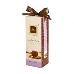 Pralinky z extra tmavej čokolády 52% s lieskovými orieškami