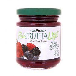 Džem lesné ovocie Light je nízkokalorický, bez pridaného cukru, ale s intenzívnou chuťou lesných plodov