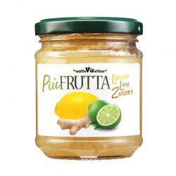 Džem citrón - limetka a zázvor, Piú FRUTTA je džem z čerstvých sicílskych citrónov, limetky a zázvoru.