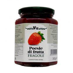 Džem jahodový POESIE DI FRUTTA je jahodový džem s kúskami ovocia.