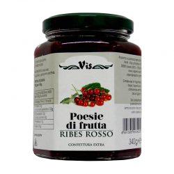 Džem červené ríbezle POESIE DI FRUTTA je ríbezľový džem s kúskami ovocia
