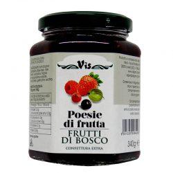 Džem lesné polody POESIE DI FRUTTA je džem z lesných plodov s kúskami ovocia.