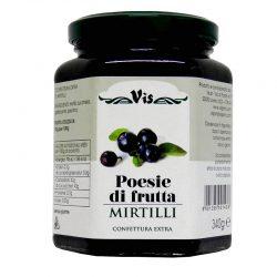 Džem čučoriedkový POESIE DI FRUTTA je čučoriedkový džem s kúskami ovocia