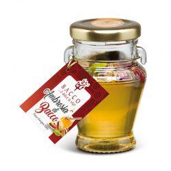 Med s lúpanými pistáciami Ambrosio je originálny sicílsky kvetový med s lúpanými chrumkavými pistáciami.