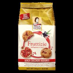 Sušienky s červeným ovocím bez cukru Fruttizie