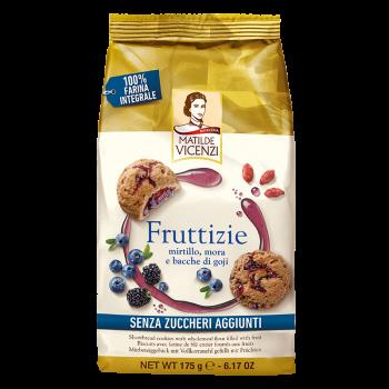 Sušienky s tmavým ovocím bez cukru Fruttizie