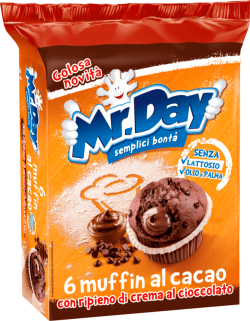 Koláčik s čokoládovými kúskami a čokoládovou náplňou Muffin